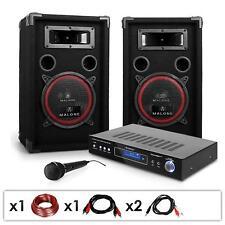 "Kit Dj Pa 1000W Amplificatore Casse Altoparlanti 8"" Impianto Audio Pro Karaoke"