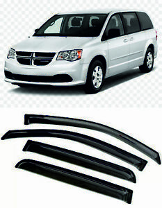 For DODGE GRAND CARAVAN V 08-20 Window Visors Sun Rain Guard Vent Deflectors