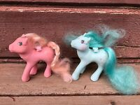 VTG G1 MLP MY LITTLE PONY PAIR OF FLUTTER PONIES PINK & BLUE no wings