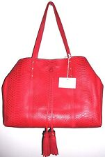 NWT $325 Isabella Fiore Margo East West  Large Leather Tote in Red