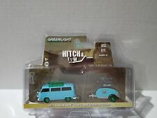 GREENLIGHT GREEN MACHINE HITCH & TOW 1972 VOLKSWAGEN TYPE 2 &TEARDROP TRAILER LE
