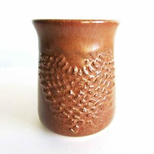 """Hand Crafted Pottery Mug with Heart Design 4"""" tall Vintage FREE SH"""