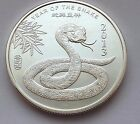 1 OZ .999 SILVER LUNAR YEAR OF THE SNAKE 2013 ART ROUND FREE SHIPPING