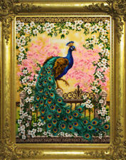 Bead Embroidery kit GOLDEN HANDS J-015 - Beautiful peacock