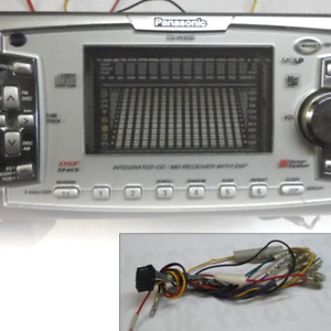 """Panasonic CQ-VX3030 2DIN CD MD Player Deck W7"""" from Japan F/S Tested Working"""