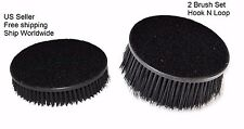 """2x Car Seat Carpet Upholstery Mat 5"""" Round Spinner Brush Hook-N-Loop Attachment"""