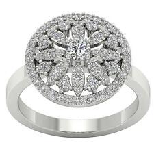 Designer Right Hand Engagement Ring Si1 G 1.15 Ct Natural Diamond 14K White Gold