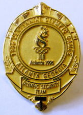 More details for olympic security team atlanta 1996 badge, gold color