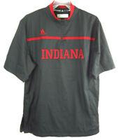 Adidas Indiana IU Black Men's Small Short Sleeve Quarter Zip Pullover