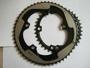 SRAM RED 11-SPEED X-GLIDE DOUBLE CHAIN RINGS, 130 BCD, 53/39t, VGC