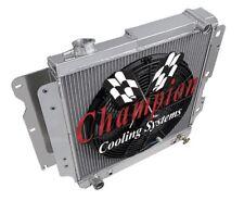 """4 Row Performance Champion Radiator W/ 16"""" Fan for 1987 - 2006 Jeep Wrangler YJ"""