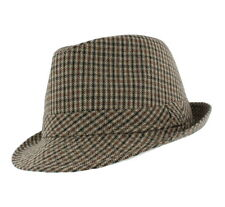 2765bcfb864 Men s  Chris  Country Checked Trilby Hat Brown or Blue 58cm   60cm