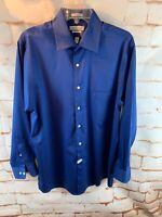 Van Heusen Women's Lux Sateen Regular Fit Wrinkle Free Size 16 Royal Blue Shirt