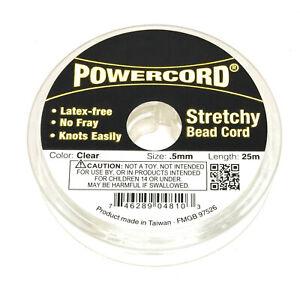 82 feet no fray elastic cord 0.5mm Powercord stretch 4lb test strength