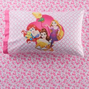 Disney Princess 4-Piece Sheet Set Pink Soft & Cozy Full