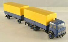 Herpa 309578 IVECO Magirus camion blu con rimorchio telonato giallo H0 1:87