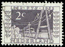 Scott # 332 - 1952 - ' Railroad & Telegraph Poles of 1852 '