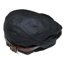 Polo Ralph Lauren Mens Newsboy Hat Cap Oil Cloth Cotton Leather Brown Charcoal