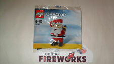 2012 Lego Exclusive 30182 Christmas Waving Santa Claus Toy New Sealed Poly Bag