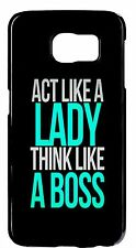 For Samsung Galaxy Devices Black Hard Case Cover Cute Funny Life Women Quotes