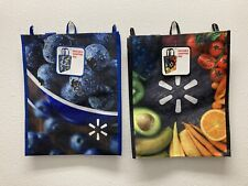 2 - Walmart Branded Reusable Shopping Bags - NEW