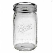 6 x 1 Litre Quart Ball Mason Australia Preserving Jars Wide Mouth BPA Free