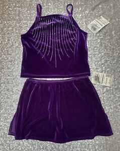 Bodywrappers Ice skating Costume Top & Skirt with built in shorts Sz 11-12 Dance