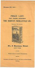 1911 Sales Price List for Hooven Mercantile Co of New York – Packaged Fruits