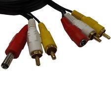 10m Cctv Seguridad Cámara Av Audio Video Rca Dvr potencia de audio Cable de extensión