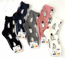Moomin Valley Character Novelty Cartoon Ankle Socks Kawaii Harajuku Size 35-40