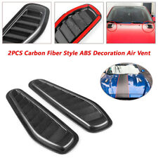 2X ABS Decoration Car Air Flow Intake Scoop Turbo Bonnet Vent Cover Hood Fender