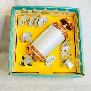 Vintage Mirro Cooky-Pastery Kit 12 Forming Plates and 3 Pastry Tips Complete