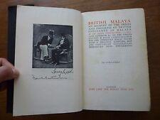 1929 BRITISH MALAYA Swettenham PHOTOS Origin & Progress MAP Culture MALAYSIA