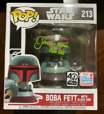 Jeremy Bulloch Signed Star Wars Boba Fett with Slave One 213 Funko - BAS C70387