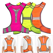 Vest Safety Led Reflective High Visibility Gear Stripes Night Running Walk