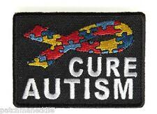 Biker patch Cure Autism Puzzle Pieces Ribbon Patch New Nice