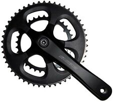 SUNTOUR Compact double chainset CRANKSET 34 / 50T ROAD RACING BIKE 175mm Nero