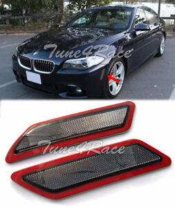 For 12-16 BMW F10 5-Series Smoke Side Bumper Reflector Lights M Sport Package