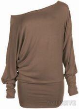 Maglie e camicie da donna a manica lunga marrone taglia L