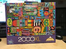 Vintage Numbers 2000XL Pieces Mega Puzzle