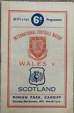 More details for wales v scotland 1952