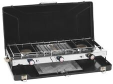 Portable Double Gas Cooker Hob Stove Grill Camping 2 Ring Burner FREE POSTAGE