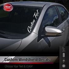 Custom Text Windshield Banner Car Sticker Vinyl Honda Acura JDM Euro Decal 1