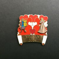 WDW - Build A Pin Base Red and Pink Hearts - Phillip & Aurora Disney Pin 14144