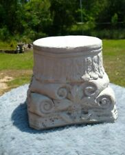 """5"""" ROUND TOP CEMENT/CONCRETE PEDESTAL-BASE-STAND FOR STATUES - NATURAL GRAY"""