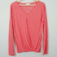 OROTON | Womens Linen Blend Knit Top [ Size L or AU 14 ]