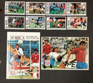 Nevis #809-818 Complete Set 1994 World Cup Soccer MNH