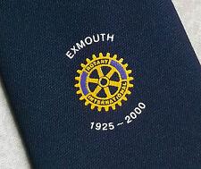 Rotary International Exmouth 1925-2000 Club Asociación Corbata Vintage Azul Marino