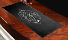 PERSONALISED CHALK BOARD BEER GLASSES Bar Towel Runner Pub Mat Beer Cocktail