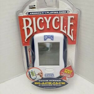 New Bicycle Hand Held BlackJack Deuces Wild American Card Play Game Touch Screen